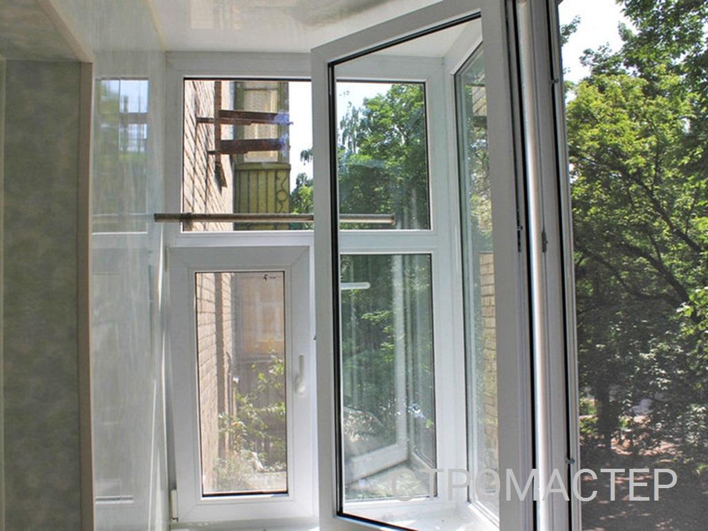 Теплое остекление балкона в Северске
