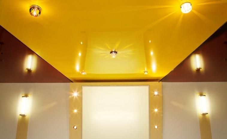 Цветные натяжные потолки Северск