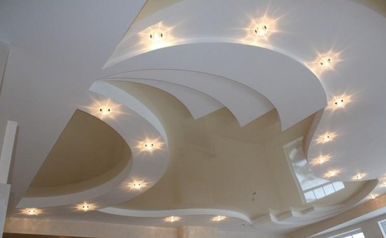 Многоуровневые натяжные потолки Северск